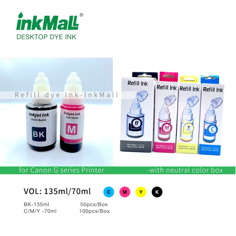 Dye ink for Canon G Pixma Series