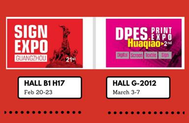 Convite InkMall para 2019 DPES Sign Expo e Print Expo